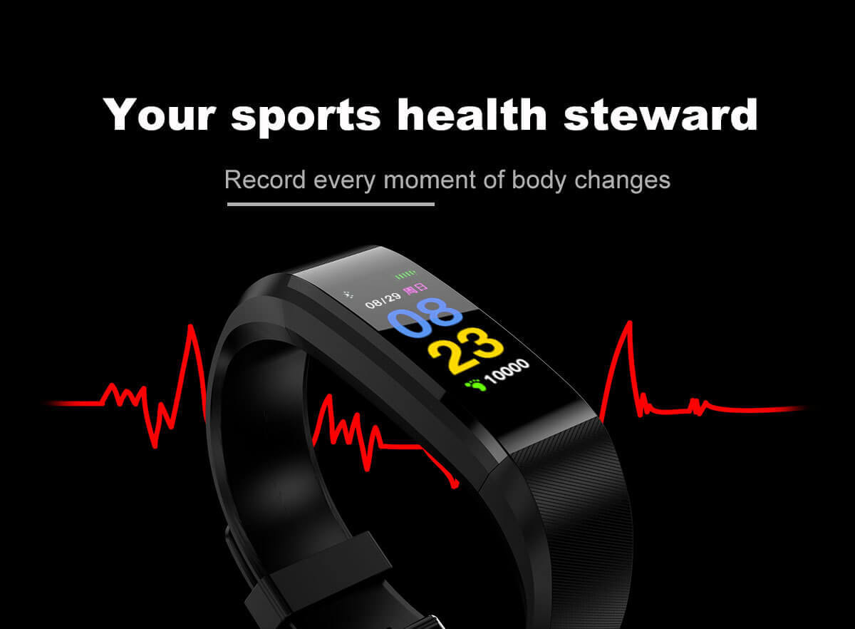 Rectangular Smart band Android And Ios Free Shipping Sweekh.com