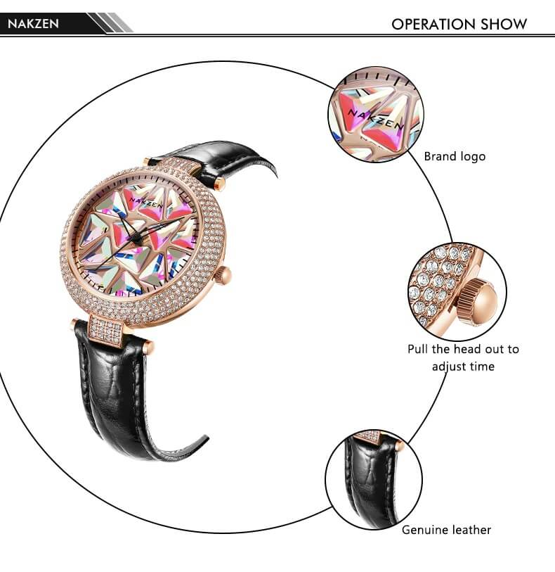 Round Watch With A rotating Dial Modern fashion Sweekh.com