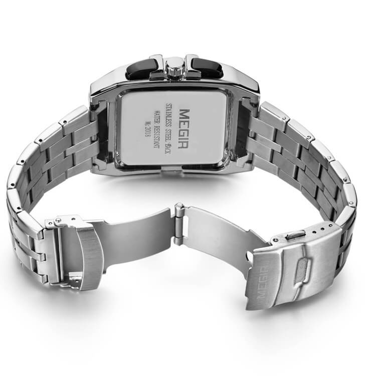 Square Watch with Full Calendar Free Shipping Sweekh.com